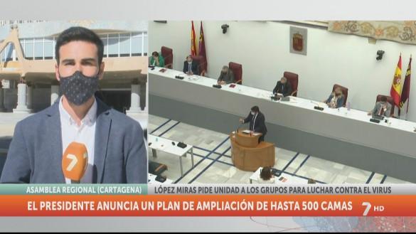 López Miras anuncia un plan de emergencia para ampliar los hospitales con 500 camas