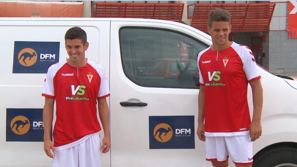 Hugo Álvarez y Alfaro ya visten la camiseta del Real Murcia