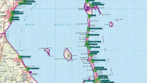 La bandera amarilla ondea este miércoles en la Playa de Zeus de Cartagena