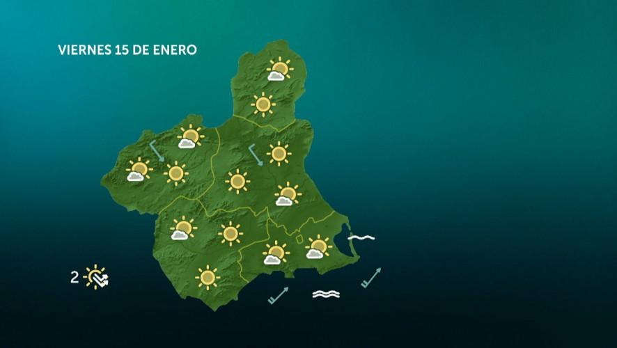 Temperaturas mínimas en ascenso, con heladas débiles en el norte de la Región