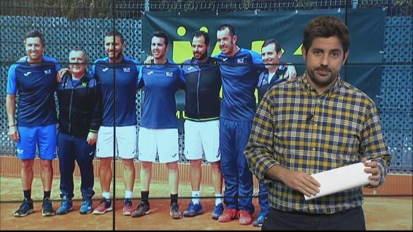 El equipo de veteranos del Murcia Club de Tenis, campeón de España