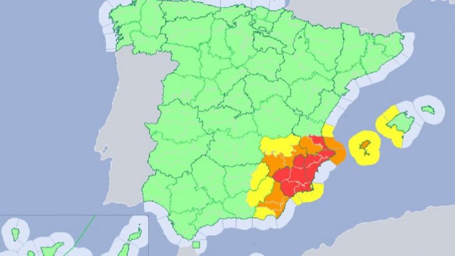 Aumenta a nivel rojo el riesgo por lluvia y viento el jueves y viernes en la Región