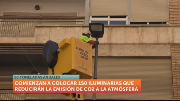El nuevo alumbrado de Murcia emitirá 50 toneladas menos de CO2 al año
