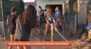 El club de balonmano de Los Alcázares, solidario con sus vecinos