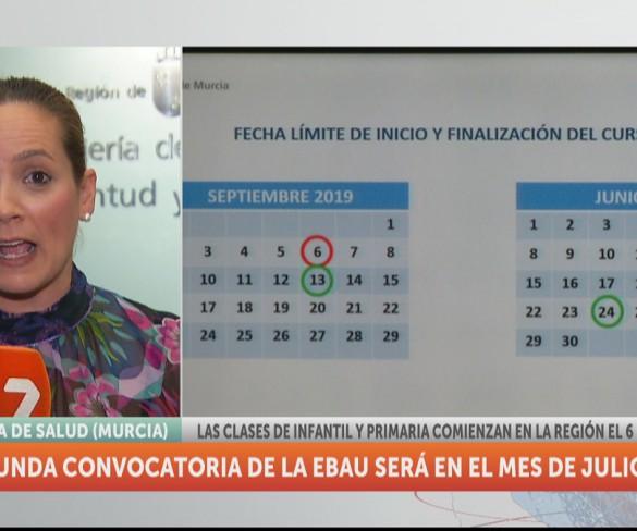 Las clases de Infantil y Primaria comenzarán el 6 de septiembre en la Región de Murcia