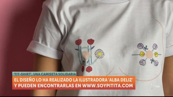 Camisetas solidarias con motivo del Día Mundial contra el Cáncer de Mama
