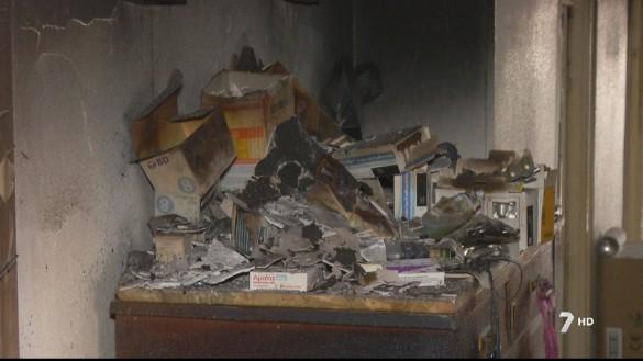 Arde una vivienda en Cieza y sus inquilinos son trasladados al hospital