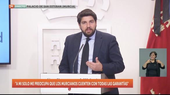 """López Miras: """"El Día de la Comunidad se homenajeará a todos los murcianos"""""""
