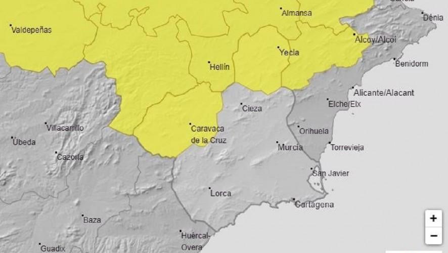 Meteorología emite aviso amarillo por tormentas para este martes en el Noroeste y el Altiplano
