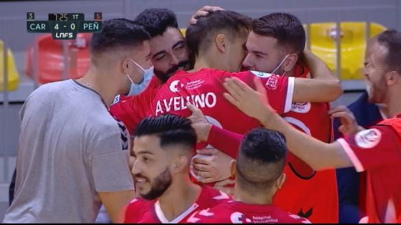 El Jimbee Cartagena golea y suma su segunda victoria en casa (6-3)