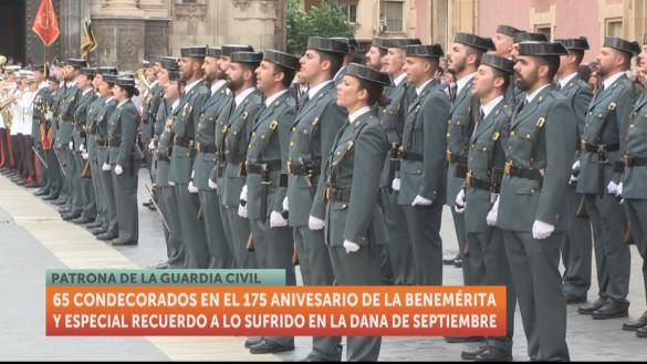 La Guardia Civil entrega 65 condecoraciones en Murcia por el día del Pilar