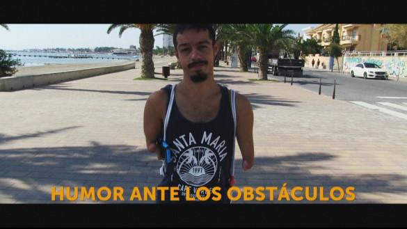 Una historia de superación: Kevin 'Mancojo' nadará 5.000 metros a nado de San Javier a La Manga