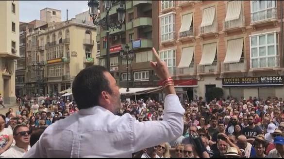Cientos de personas se manifiestan en Cartagena contra el pacto PP-PSOE