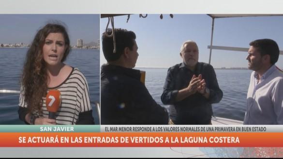 La calidad del Mar Menor mejora aunque se detectan vertidos de origen diverso
