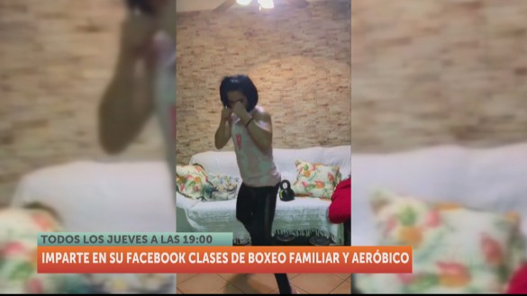 Mari Carmen Romero imparte clases de boxeo para amenizar la cuarentena
