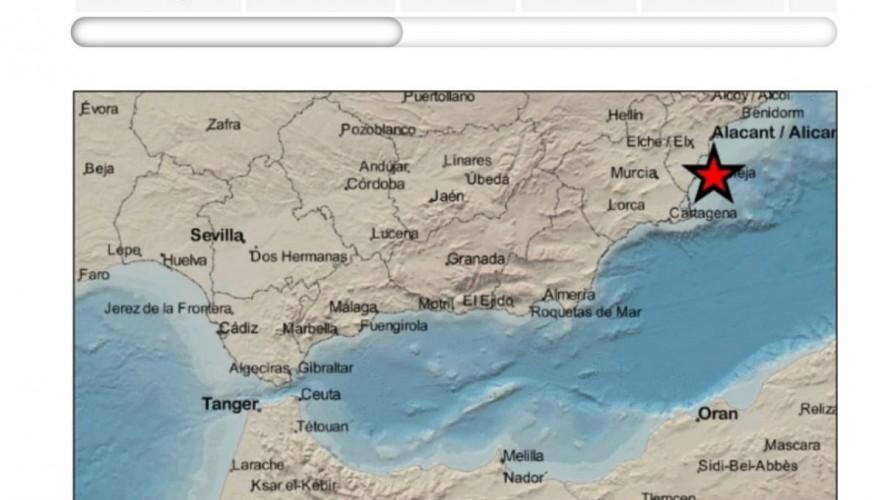 La costa de Cabo de Palos registra un movimiento sísmico de magnitud 4