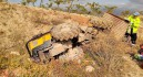 Fallece un hombre en Aledo tras volcar el tractor que conducía y quedar sepultado