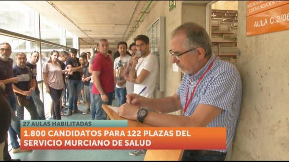 Casi 2.000 opositores optan a 122 plazas del Servicio Murciano de Salud