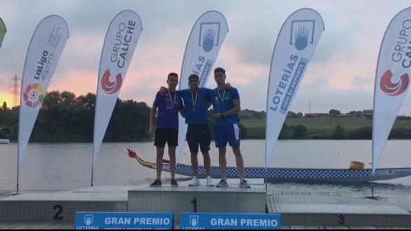 El pinatarense Pablo Sánchez logra seis medallas en el Campeonato de España de Piragüismo
