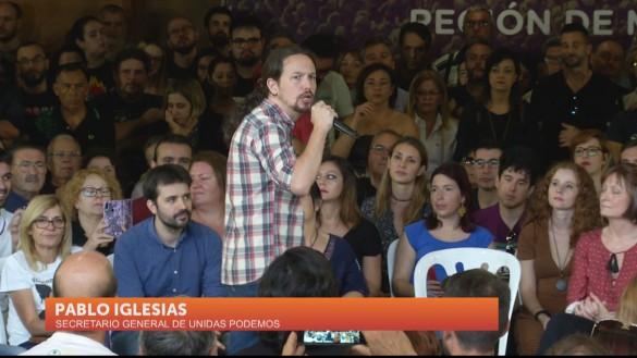 Iglesias apoya a los candidatos de Unidas Podemos en su visita a Murcia