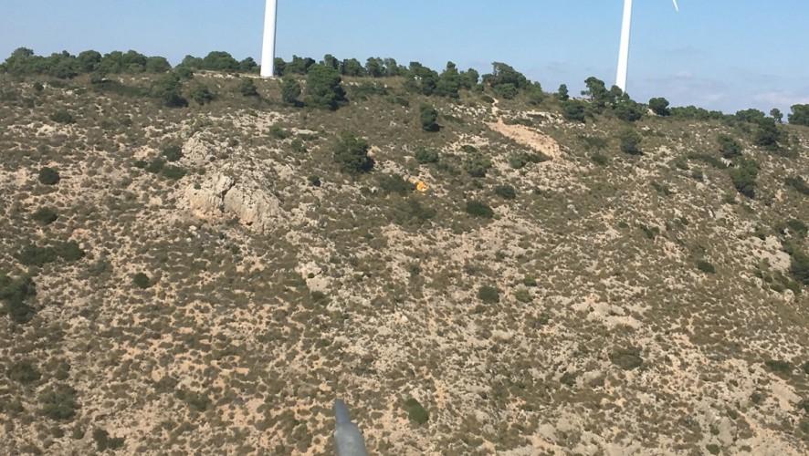 Muere un parapentista tras caer más de 30 metros en la Sierra del Buey, en Jumilla