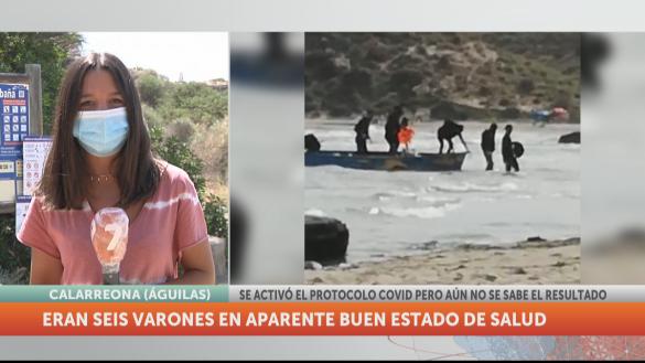 Interceptan una patera con seis inmigrantes a su llegada a Águilas