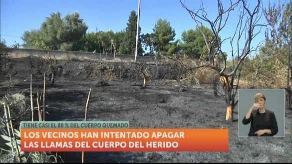 Un vecino de Los Garres (Murcia) sufre quemaduras graves en una quema descontrolada
