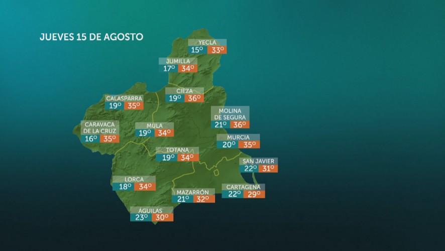 Temperaturas mínimas con pocos cambios y máximas en ascenso