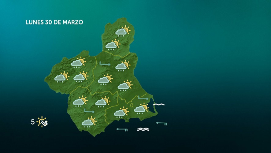 Precipitaciones más probables e intensas en el interior