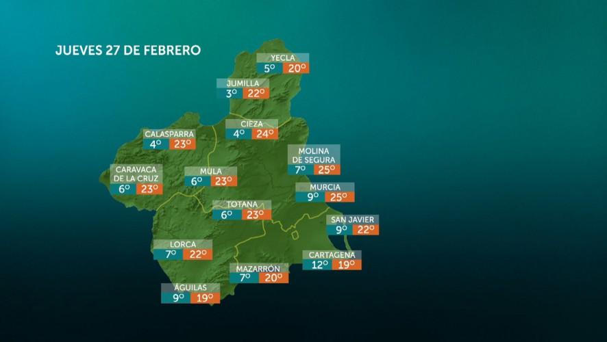 Temperaturas mínimas en descenso, máximas en ascenso en Noroeste y Altiplano