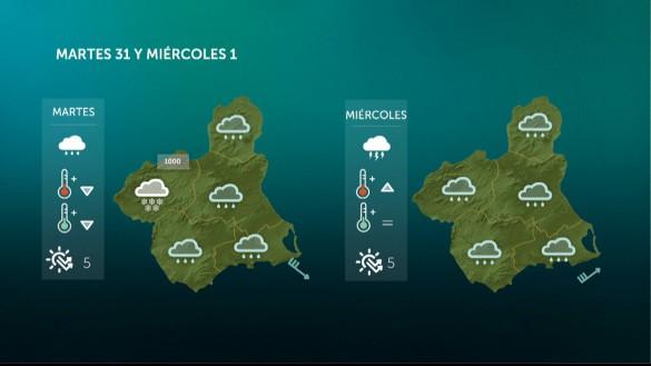 Caen las temperaturas y vuelven las lluvias a la Región