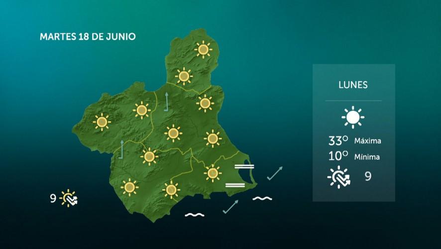 Temperaturas mínimas en ascenso en el interior y sin cambios en el litoral