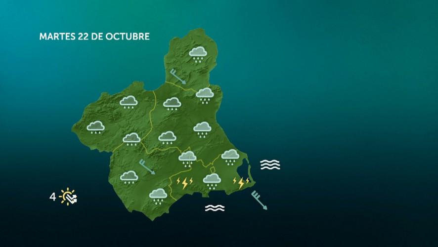 Precipitaciones que pueden ser localmente fuertes y persistentes