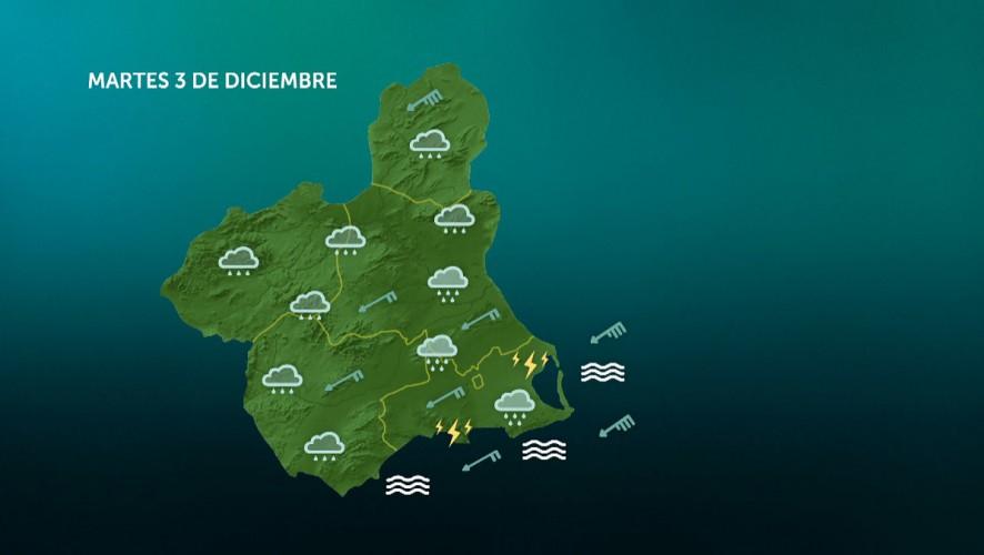 Precipitaciones generalizadas, con tormentas fuertes y persistentes en el litoral