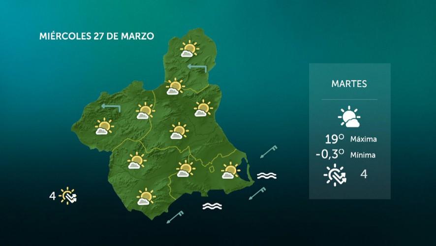 Temperaturas en descenso en el interior, con heladas débiles en el Noroeste y el Altiplano