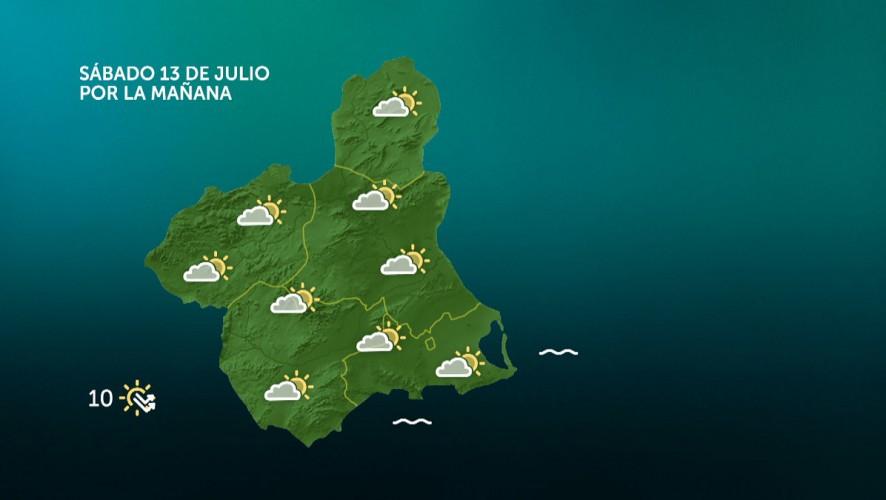 Cielos nubosos y temperaturas máximas en descenso