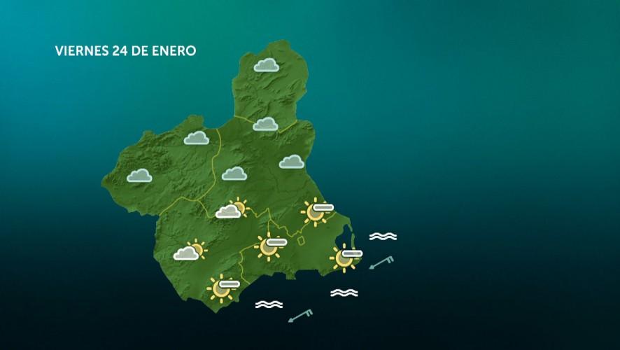 Temperaturas mínimas en descenso en la parte oriental de la Región