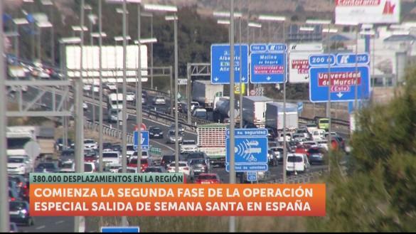 Tráfico denso en las carreteras de la Región al comienzo de la Operación Salida