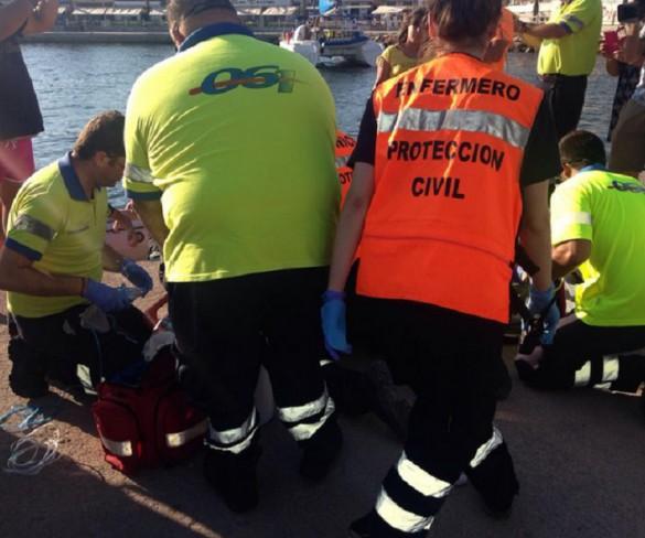 Dos hombres, heridos graves tras sufrir una descompresión mientras buceaban en Cabo de Palos