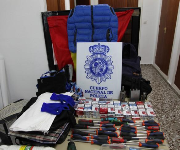 Dos detenidos por perpetrar cinco robos con butrón