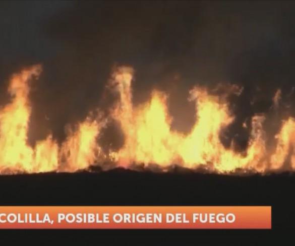 Una colilla arrojada desde un coche pudo encender el incendio de Lo Poyo