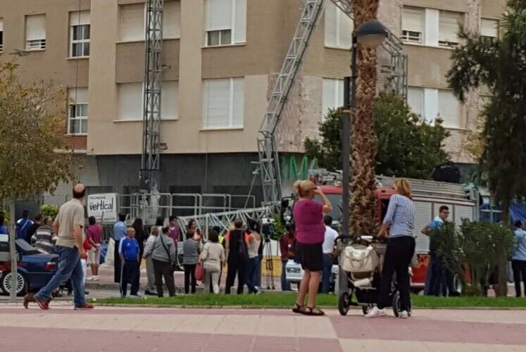 Fallecen dos obreros al desplomarse un andamio en Murcia