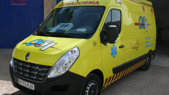 Herido grave un motorista tras salirse de la vía en Pliego