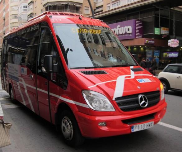 Crece un 9,26% el número de usuarios de los autobuses de Transportes de Murcia