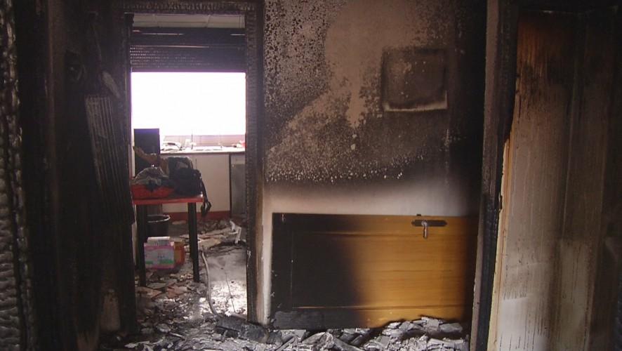 Cinco personas de la misma familia atendidas en un incendio de vivienda en Churra
