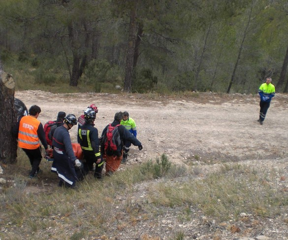 Rescatan a un joven de 32 años en la Sierra del Carche de Jumilla