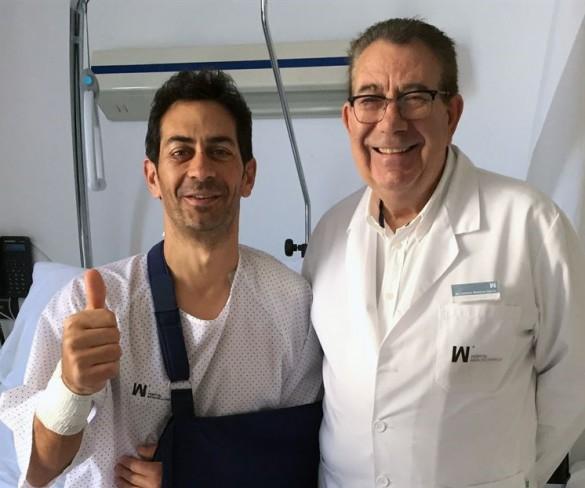 El atleta murciano Ricardo Marín, operado con éxito en el hospital Mesa del Castillo