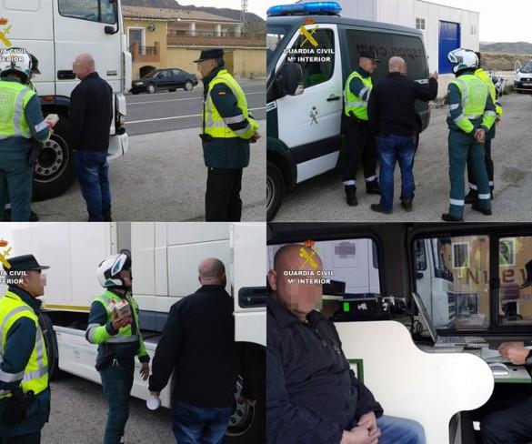 La Guardia Civil detiene en Jumilla a un camionero que septuplicaba la tasa de alcoholemia