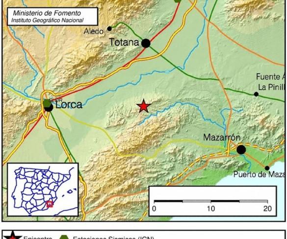 Registrado un terremoto de 3,2 en Totana