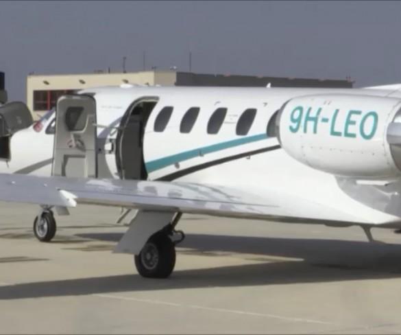 El aeropuerto de San Javier estrena el primer servicio de aerotaxi de la Región
